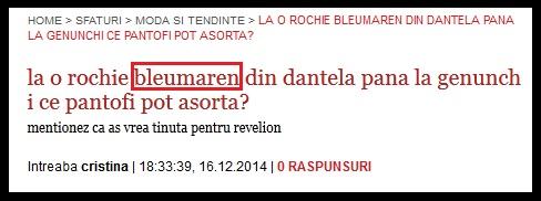 """Photo of """"Bleumarin"""" sau """"bleumaren""""?"""