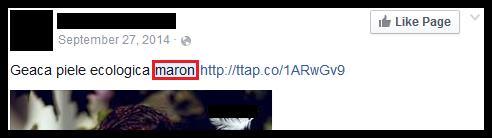 "Photo of ""Maro"" sau ""maron""?"